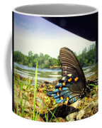 Beautiful Butterfly At The River II Coffee Mug