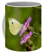 Beautiful Butterfly On Pink Thistle Coffee Mug