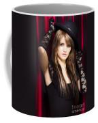 Beautiful Costumed Young Showgirl Coffee Mug