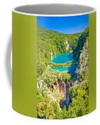 Beautiful Falling Lakes Of Plitvice National Park Coffee Mug