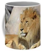 Beautiful Golden African Lion Relaxing In The Sunshine Coffee Mug