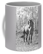 Beautiful Horse In Black And White Coffee Mug