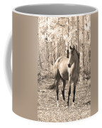 Beautiful Horse In Sepia Coffee Mug