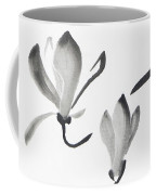 Beautiful Magnolia Branch With Two Flowers Japanese Zen Sumi-e P Coffee Mug