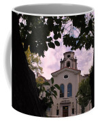 Beautiful Mason Hall - Pomona College - Trees Framing Coffee Mug