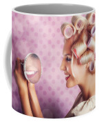 Beautiful Model With Fresh Makeup And Hairstyle Coffee Mug by Jorgo Photography - Wall Art Gallery