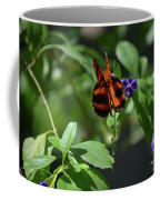 Beautiful Oak Tiger Butterfly On Purple Flowers Coffee Mug