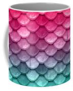 Beautiful Pastel Diagonal Rainbow Spectrum II Mermaid Fish Scales Coffee Mug