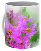 Beautiful Pink Flower Blooming For Background. Coffee Mug