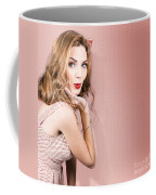 Beautiful Portrait Of 1950 Model Girl In Pin Up Coffee Mug