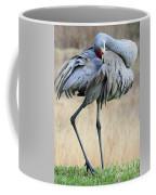 Beautiful Preening Sandhill Crane Coffee Mug