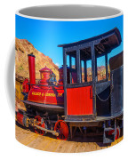 Beautiful Red Calico Train Coffee Mug