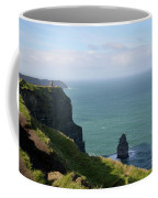 Beautiful Rocky Towering Sea Cliffs Along The Cliff's Of Moher Coffee Mug