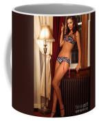 Beautiful Sexy Woman At A Window Coffee Mug