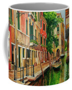 Beautiful Side Canal In Venice Coffee Mug