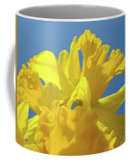 Beautiful Spring Daffodil Bouquet Flowers Blue Sky Art Prints Baslee Troutman Coffee Mug