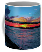 Beautiful Sunset Under The Bridge Coffee Mug