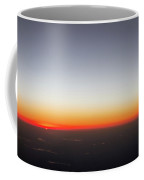 Beautiful Sunset View From An Airplane Over Land Coffee Mug