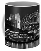 Beautiful Sydney Harbour In Black And White Coffee Mug