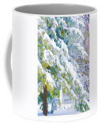 Beautiful Trees Covered With Snow In Winter Park Coffee Mug
