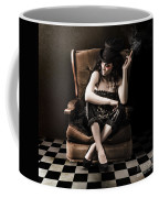 Beautiful Vintage Fashion Girl In Grunge Interior Coffee Mug by Jorgo Photography - Wall Art Gallery