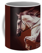 Beautiful White Running Horse 9iu Coffee Mug