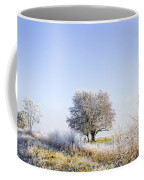 Beautiful Winter Background With Snow Tipped Trees Coffee Mug
