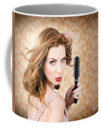 Beautiful Woman With Short Red Hair. Hairdressing Coffee Mug