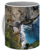 Beautifully Carved Out Swimming Deck On The Edge Of The Sea On The Amalfi Coast In Italy  Coffee Mug