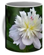 Beauty Can't Be Dampened - Festiva Maxima Double Peony Coffee Mug