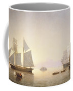 Becalmed Off Halfway Rock Coffee Mug