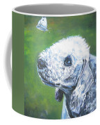 Bedlington Terrier With Butterfly Coffee Mug