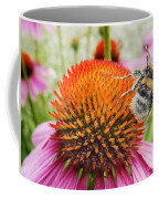 Bee And Pink Flower Coffee Mug