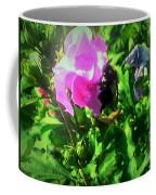 Bee Climbing Into Flower Coffee Mug