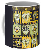 Bee Happy Coffee Mug by Jen Norton