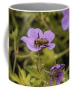 Bee On A Purple Flower Coffee Mug