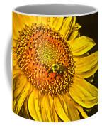 Bee On A Sunflower Coffee Mug