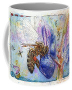 Bee On Blue Lupin Blossom. Coffee Mug