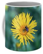 Bee On Curlyhead Goldenweed Coffee Mug
