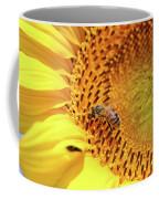 Bee On Sunflower Summer Nature Scene Coffee Mug