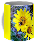 Bee On Wild Sunflowers Coffee Mug