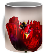 Bee Right Back With Red Flower Coffee Mug