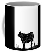 Beef Cuts Shown On The Side Of A Cow. Coffee Mug