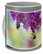 Bees On Butterfly Bush Framed Coffee Mug