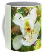 Bees On Open Magnolia Coffee Mug