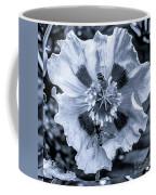 Double Bees On Poppy Bw Coffee Mug