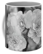 Begonias In Black And White Coffee Mug