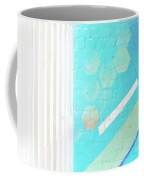Beige And Turquoise Candy Stripes Coffee Mug