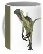 Beipiaosaurus Dinosaur On White Coffee Mug