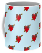 Bejewelled Heart Half Drop Coffee Mug